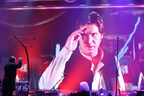 Han Solo Salutes the Conductor
