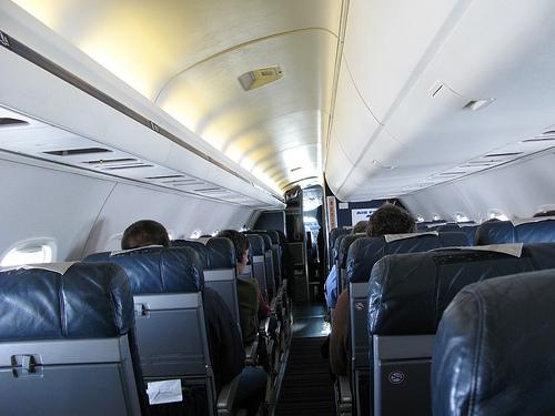 Aboard Air France plane to Ljubljana